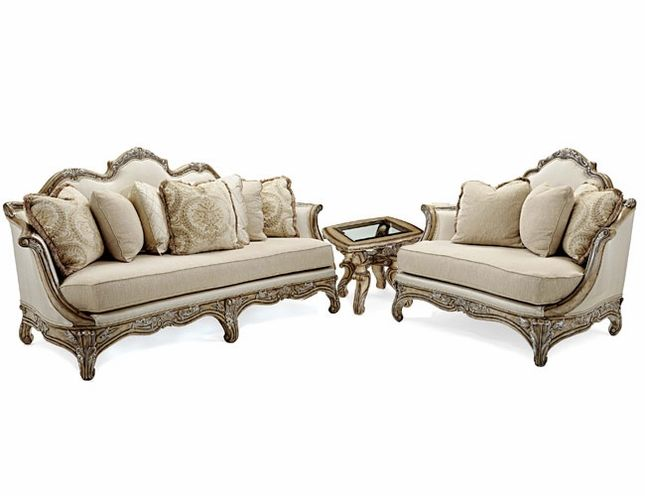 Vivacci Antique Style Formal Living Room Furniture Set Antique Style Formal Sofa Sets