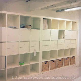 expedit brings light and storage basement idea
