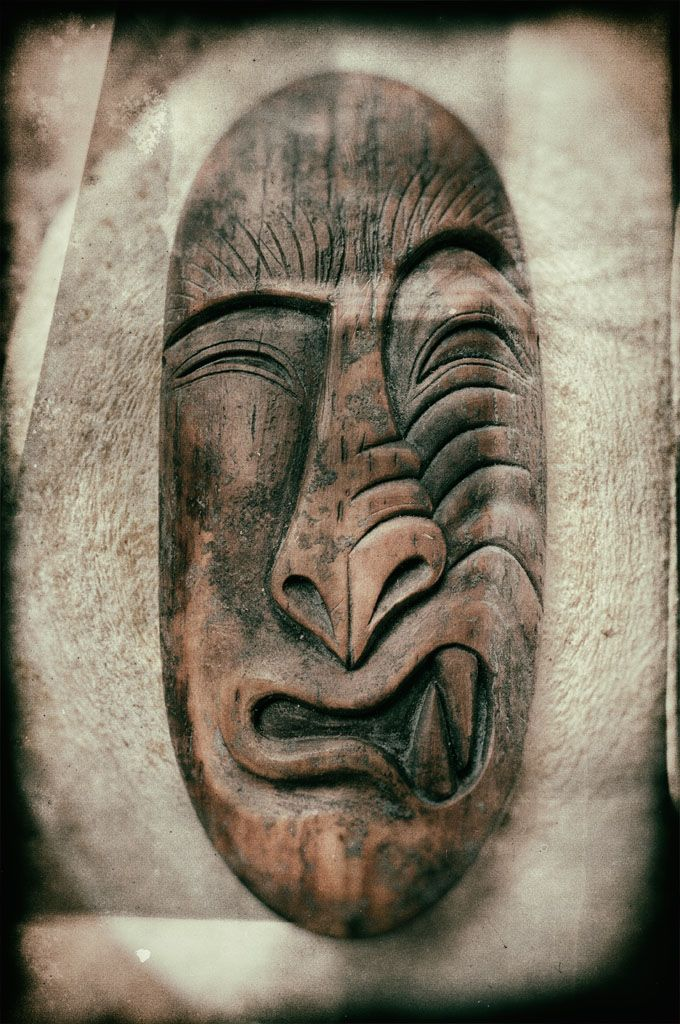 Pre-Inuit mask amulet carved from ancient woolly mammoth ivory © 2016 Bali Charm