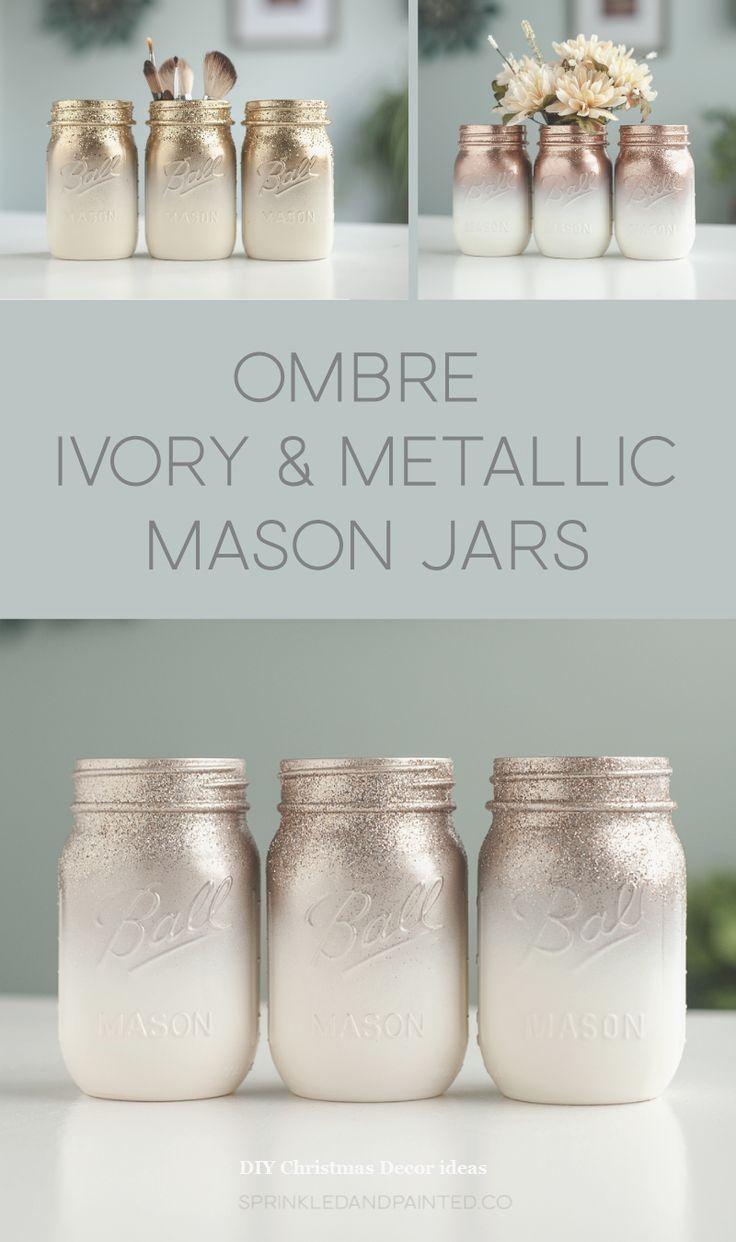 Fantastic Christmas Mason Jar Diy Christmasdiy Diy Jar Crafts Mason Jar Crafts Diy Painted Mason Jar Centerpieces