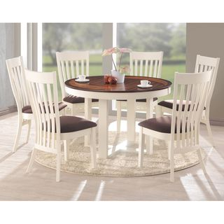 Great Shippen White And Brown 7 Piece Modern Dining Set | Overstock.com Shopping    Big