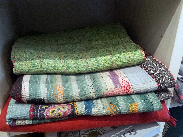 Gorgeous Indian quilting at Sally Bourne
