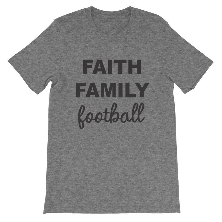Excited to share the latest addition to my #etsy shop: Faith Family Football Short-Sleeve Unisex T-Shirt,football Shirt,Football tshirts, womens football tshirt,womens shirts,womens tshirts http://etsy.me/2DKqI8f #clothing #shirt #black #womensclothing #topsandtees