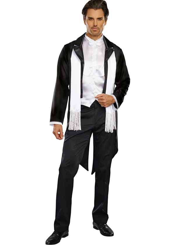 great gatsby inspired costume looks like a classic tuxedo from the 1920s guy halloween costumescostumes - Classic Mens Halloween Costumes