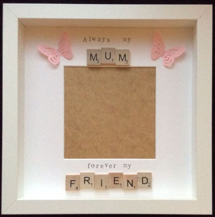 Handmade Scrabble tile frame, beautiful mum quote