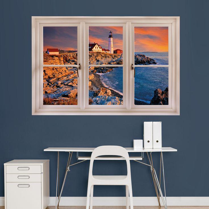 Fathead Maine Lighthouse' Instant Window