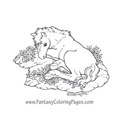 fantasy coloring pages worlds best coloring pages mermaids angels fairies and so - Art Nouveau Unicorn Coloring Pages