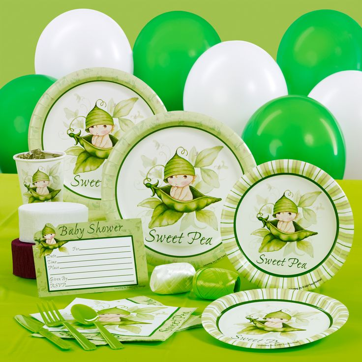 Sweet Pea Baby Shower Supplies | Home U003e Sweet Pea Baby Shower Standard  Party Pack For