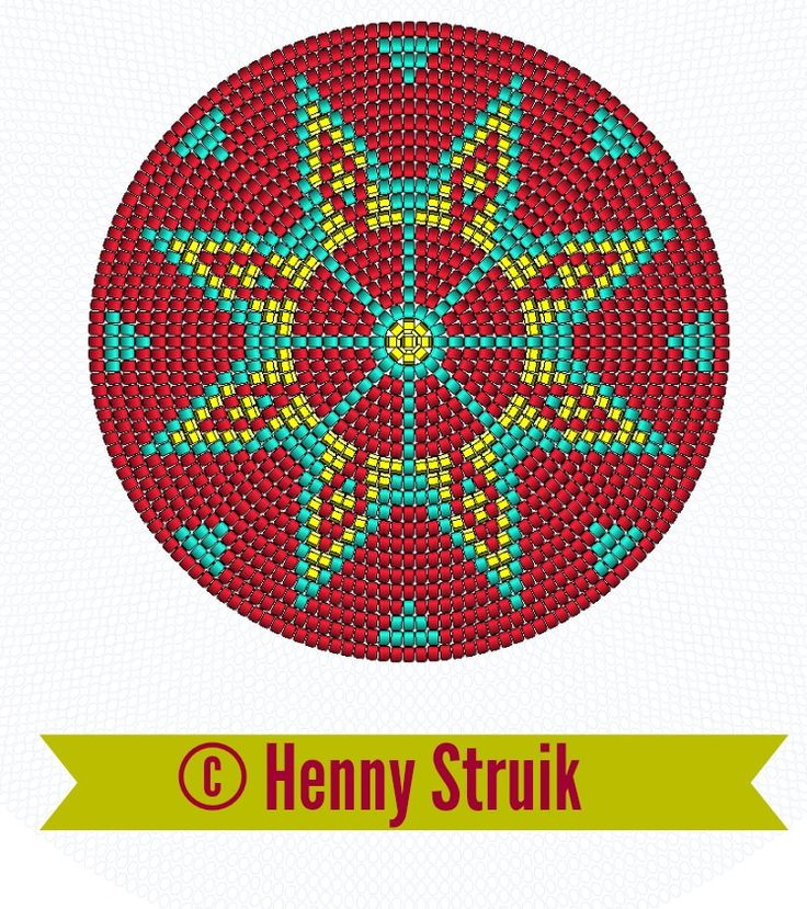 Pattern bottom Mochilla look-a-like bag red yellow aqua variation 4