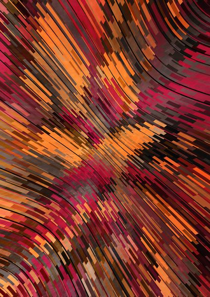 Colorful Distortion Art Print by Danny Ivan | Society6