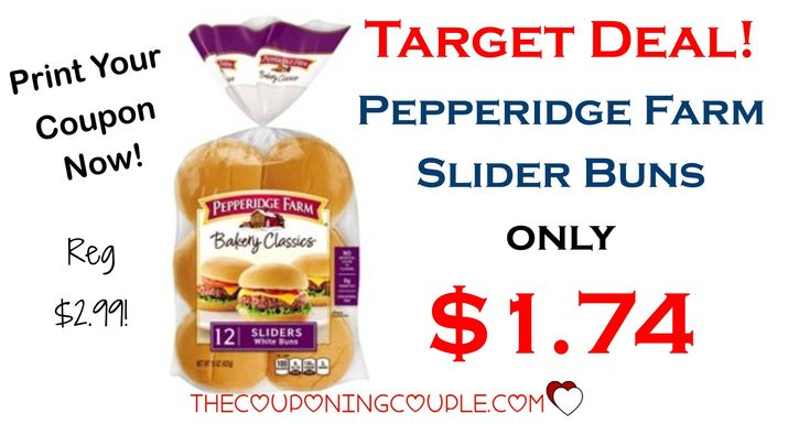 WOOHOO! Loving this deal! Get Pepperidge Farm Slider Buns for only $1.74 per package! (reg $2.99!) PRINT YOUR COUPON NOW!  Click the link below to get all of the details ► http://www.thecouponingcouple.com/pepperidge-farm-slider-buns/ #Coupons #Couponing #CouponCommunity  Visit us at http://www.thecouponingcouple.com for more great posts!