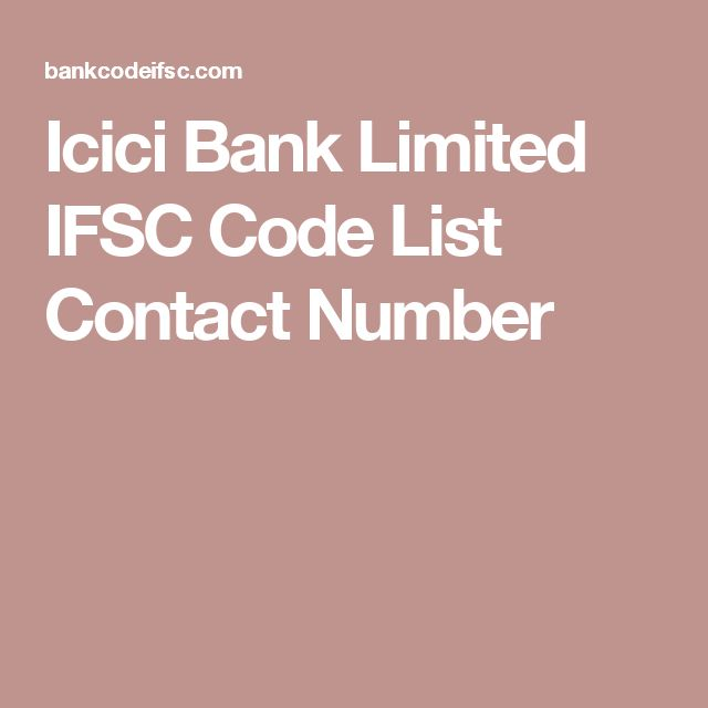 Icici Bank Limited IFSC Code List Contact Number