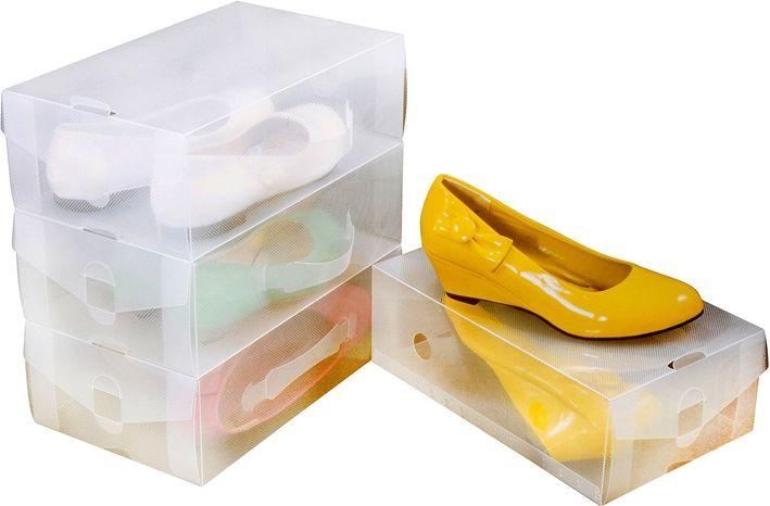 Skolådor, stapelbara, transparent 4-pack, 3106097