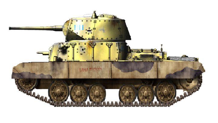 M17/44: Aveva un cannone da 65/64 modificato per il carro (72 colpi) e due…