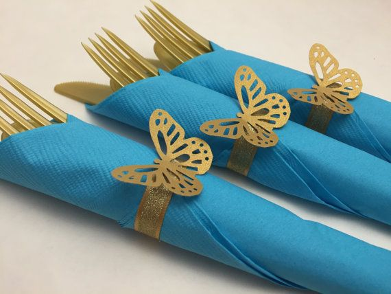 Cinderella Party Flatware: 8+ Butterfly Themed Party Cutlery, Cinderella Theme, Cinderella Flatware