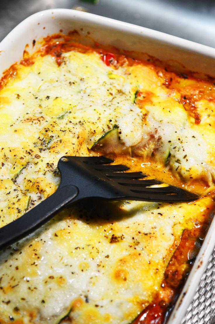 Courgette lasagne, geen pasta dus geen koolhydraten! Lees het recept op Buuf en…