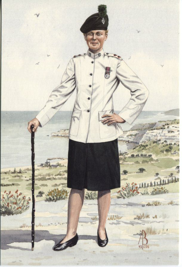 Alix Baker Postcard - AB18/5 Lieutenant, 1st Bn Royal Irish Regiment, Cyprus 1993 (No3 Dress)