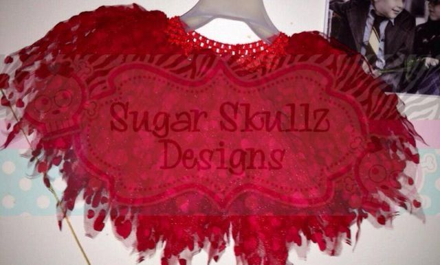 Heart printed tulle for valentines day tutu