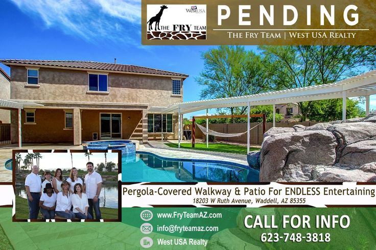 "We are now PENDING on this ""Pergola-Covered Walkway & Patio For ENDLESS Entertaining""  