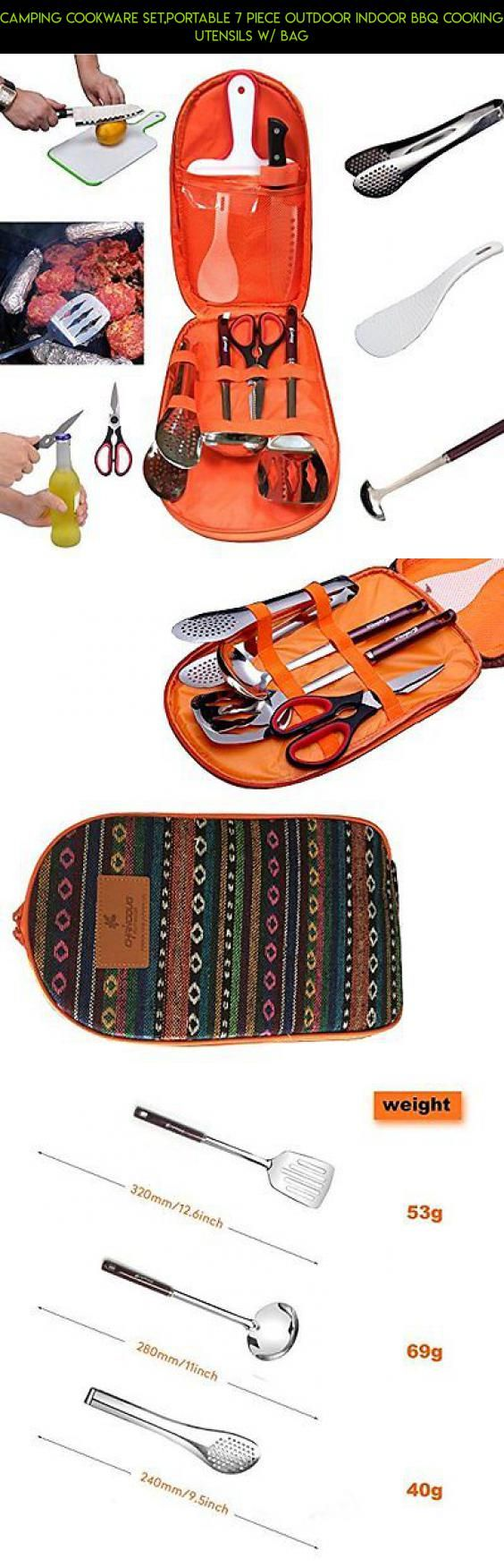 Camping Cookware Set,Portable 7 Piece Outdoor Indoor BBQ Cooking Utensils w/ Bag #set #parts #outdoor #tech #camera #shopping #kit #racing #drone #plans #fpv #products #technology #gadgets #utensil #cooking