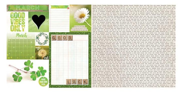 March Calendar Girl 12x12 Scrapbook Paper - 5 Sheets by Bo Bunny