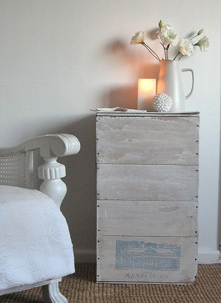 coastal cottage decor | Cottage ~ Beach Decor White Wash Wine Box Table Tutorial - Beach Decor ...