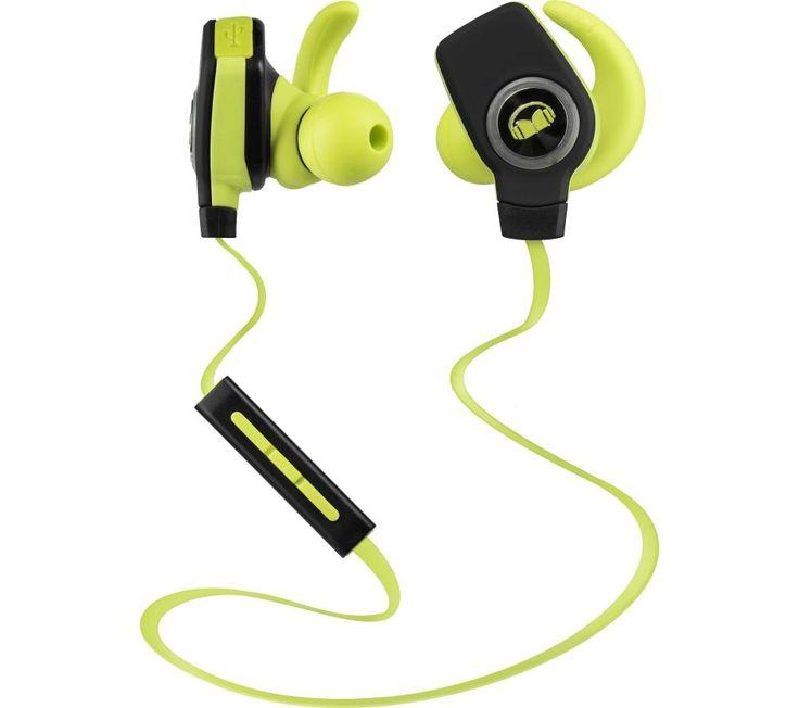 MONSTER  iSport SuperSlim Wireless Bluetooth Headphones - Green, Green