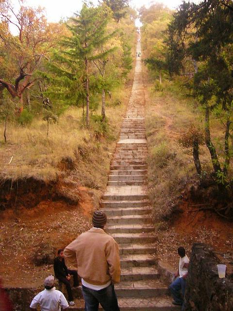 Patzcuaro, Michoacan, Went up those stairs with my Hermanita +Rosie+ <3 1993. Terri n Rosie Hermanitas para siempre.