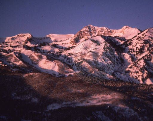 Scenic view of Snow Basin. Circa 1990s :: Univ of Utah - Multimedia Archives Photographs