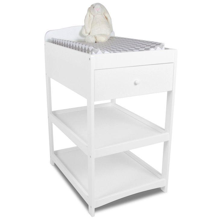 JLY Skötbord Dream Lux Vit är ett snyggt skötbord i stilren design. Skötbordet har två hyllplan och en rymlig utdragbar låda, perfekt för förvaring av våtservetter, salvor och andra tillbehör som kan vara skönt att ha nära till hands. Skötbordet stilrena design kommer få den att passa perfekt in i det moderna hemmet.  <br><br>- Nedersta hyllan mäter 6 cm från golv till nedersta delen på hyllplanet. <br>- Översta hyllan mäter 38 cm från golvet till nedersta delen på hyllplane...