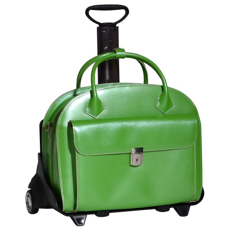 W Series Glen Ellyn Leather Laptop Briefcase