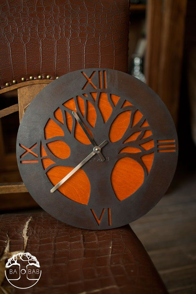 "Wooden wall clock "" African Tree"" by BAOBAB"