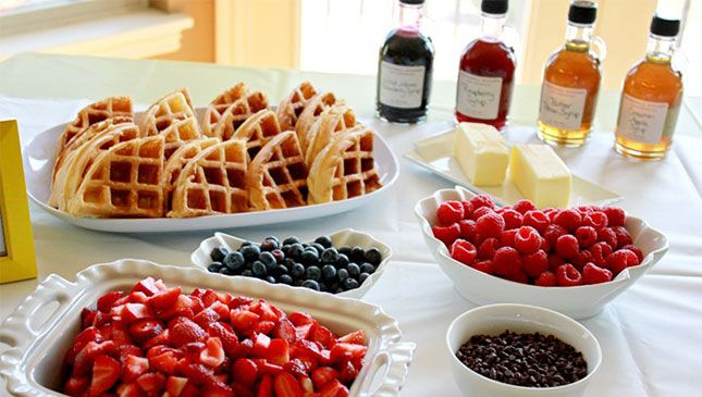 Prep this Waffle Bar at your next brunch.