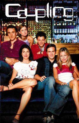 Sarah Alexander, Gina Bellman, Richard Coyle, Jack Davenport, Kate Isitt and Ben Miles in Coupling (2000)