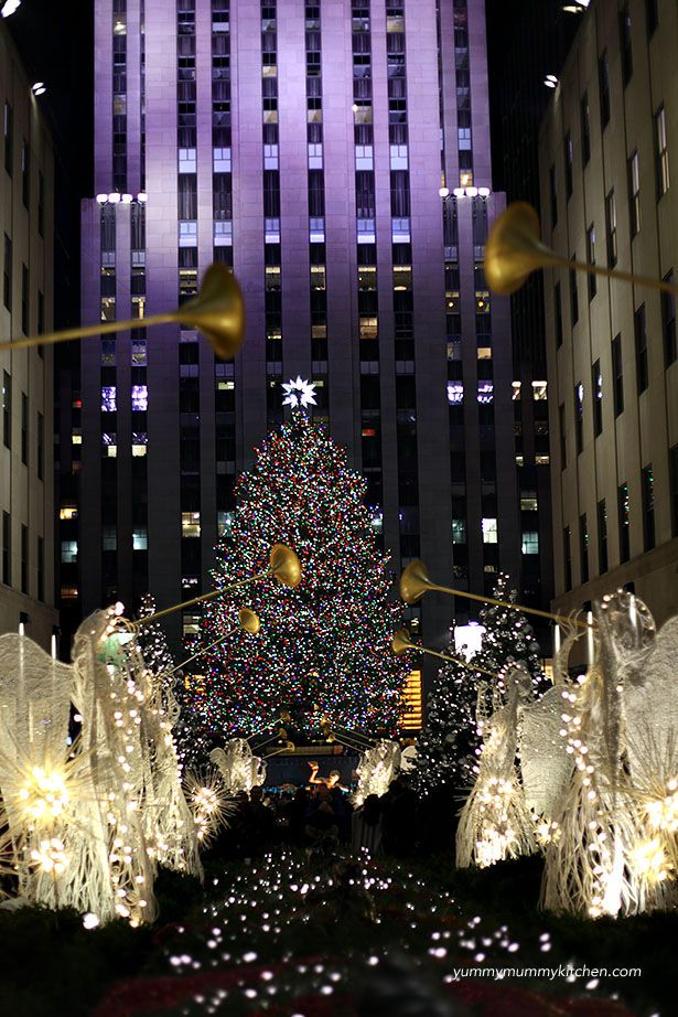 Rockefeller Center at Christmas.  Our favorite things to do at Christmas in New York with kids.