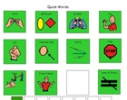 lesson image; created in Boardmaker.  This is a simplified PODD approach with clear navigating.  This can be downloaded from the Boardmaker Share activities site.