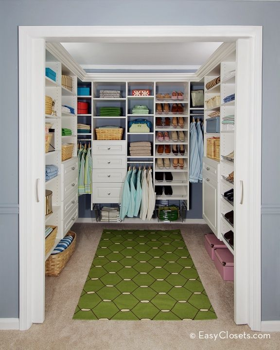 Long closet organized
