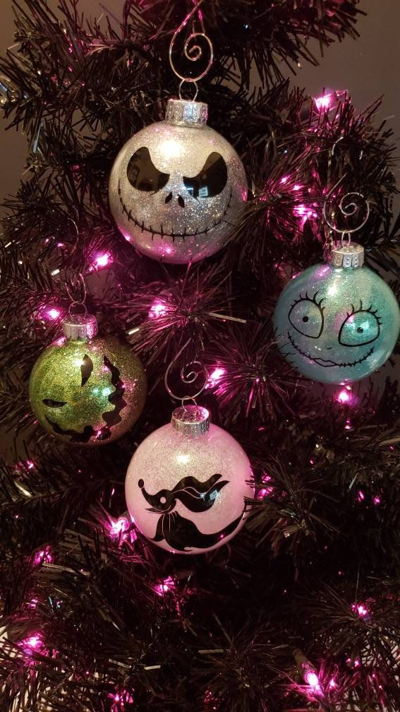 Nightmare Before Christmas Inspired christmas ornaments