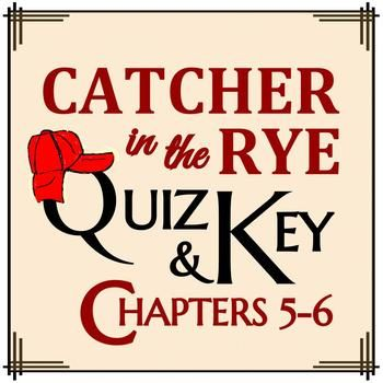 This 10-question multiple choice assessment measures comprehension and holds students accountable for the reading of Catcher in the Rye by J.D. Salinger.  An answer key is included.  Questions pertain to the following key ideas: A trip to the movies Application of situational irony (irony of result) Ackley's inclusion The intended subject matter of Stradlater's composition assignment Holden's decision to deviate from the assignment's expectations Character description of Allie Holden's…