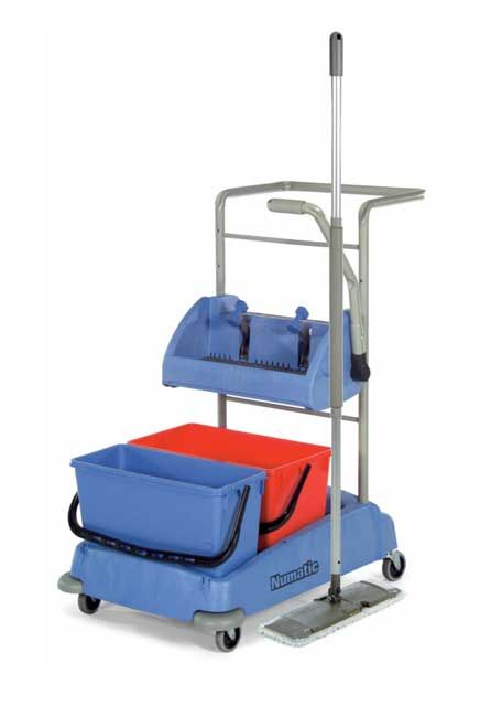 Cart With Side Press Wringer Vmw 2215 Cleaning Trolley