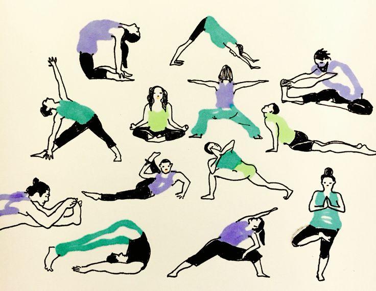Peace and joy by Marie Åhfeldt, Mås Illustra. www.masillustra.se #yoga #illustration #masillustra