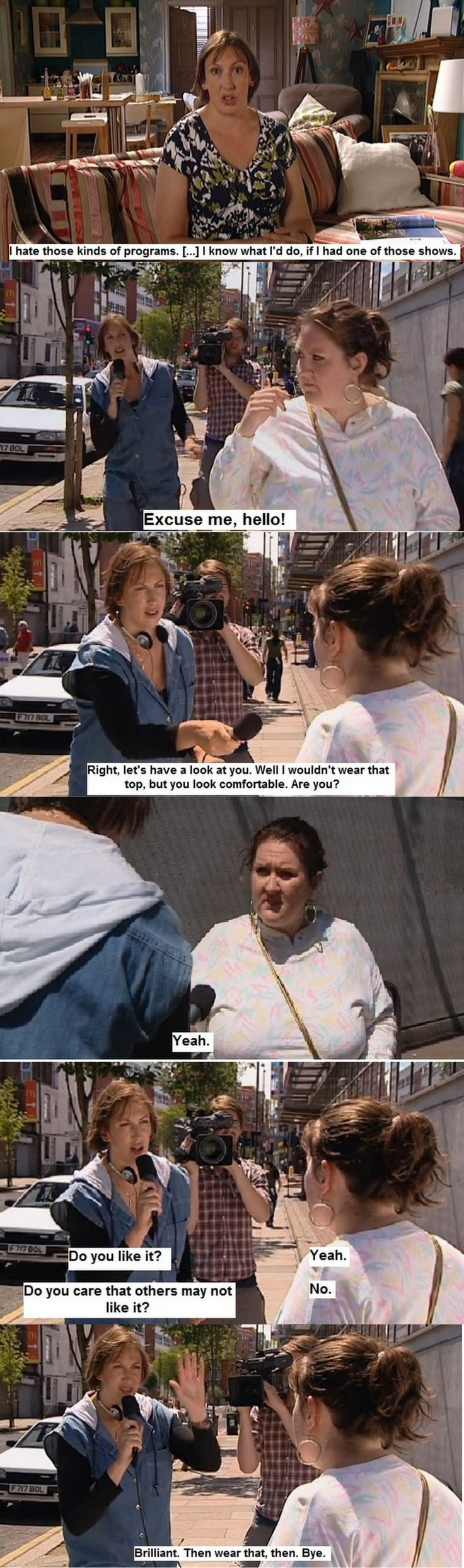 Miranda Hart's brilliant take on What Not To Wear. Although I love What Not To Wear. LOL