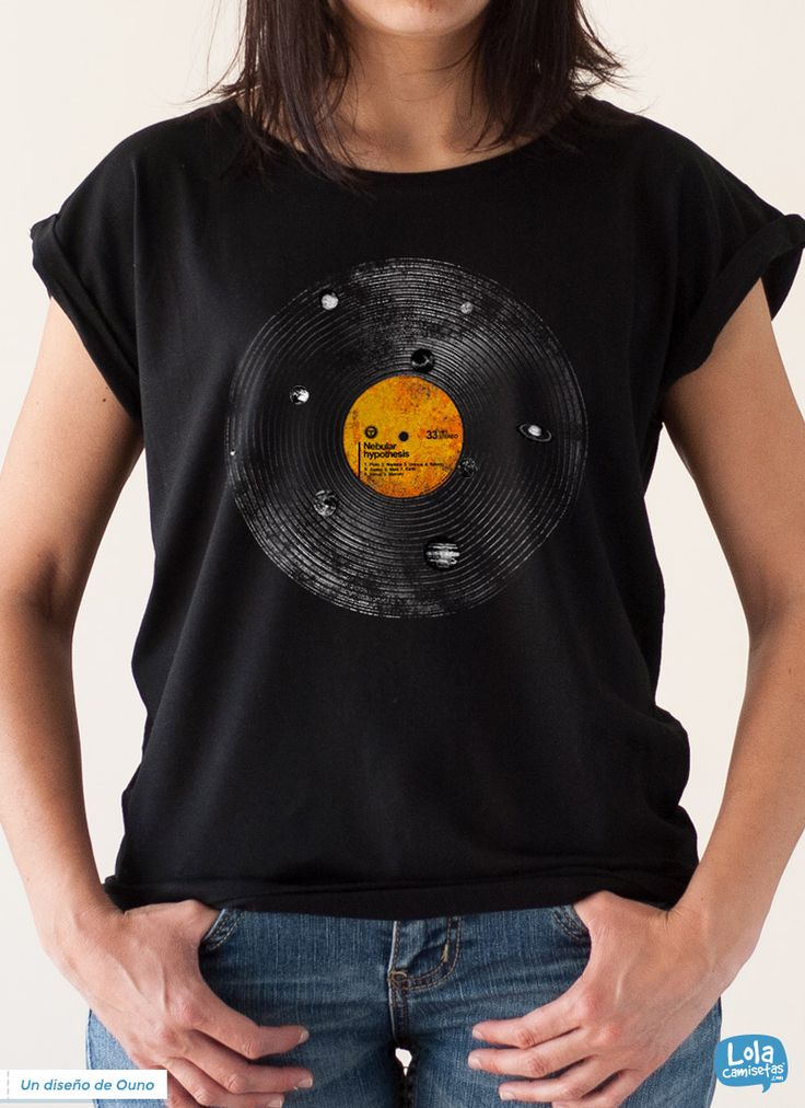 Nebular hypothesis t-shirt | Design by Ouno