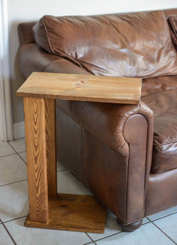 Sofa Side Tray Table Couch Arm Meal Fathers Day Gift Dinner