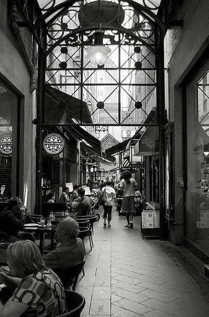Block Arcade - Melbourne, Australia (one of Melbourne's many laneways and where my favorite Cafe Sergovia is) - I think that the mentioned cafe is the place I go for eggs benedict whenever I'm staying in the city. They are mouthwatering. The Block Arcade is also the home of Haigs' Chocolates - another example of culinary bliss.