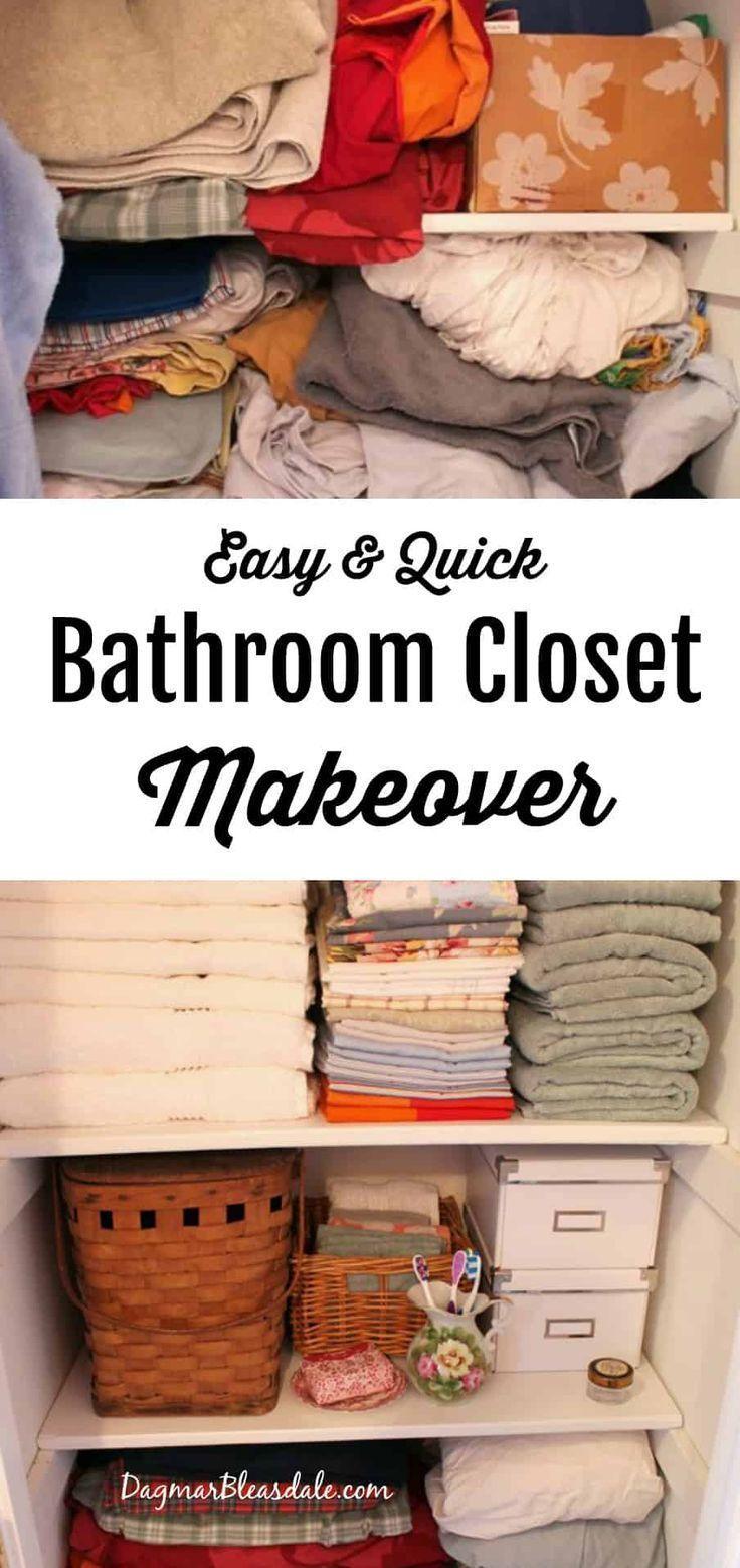 Einfache Diy Closet Makeover Badezimmer In 2020 Badschrank Badezimmer Schrank Organisation Badezimmer Diy