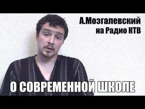 О современной школе. А.Мозгалевский на Радио КТВ