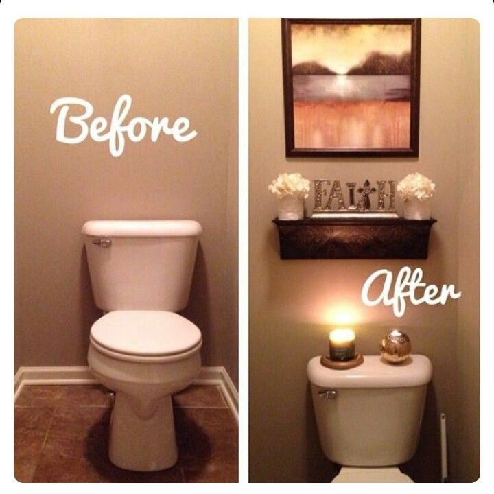 Best 25 half bath decor ideas on pinterest half for Tiny bathroom decor