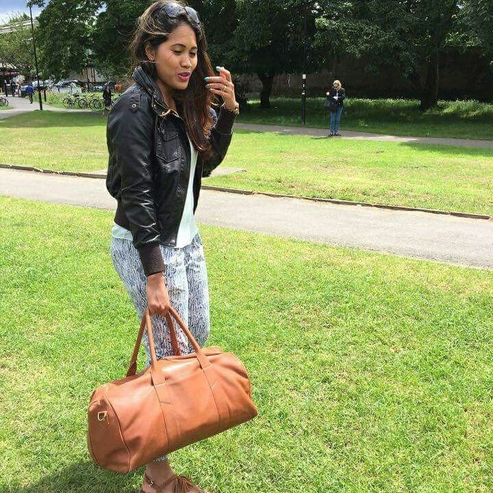 Signature leather weekender being taken for a spin by @yektisayogi in #London