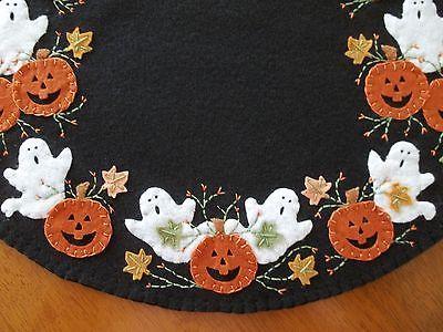 País primitivo Halloween Calabazas Y Fantasmas Penny alfombra/alfombra de vela